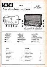 Service Manual Manual for Saba Wildbad 11