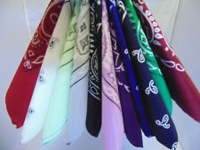 """Paisley Double Sided Printed Bandana's 22"""" Great For Pets"""