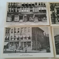 5 b/w Photo Postcards Kansas City Missouri ca.1900 Trolley Street Car (no autos)