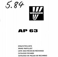 Welger AP63 Baler Parts Manual (PDF file) SPARE PARTS LIST CATALOGUE