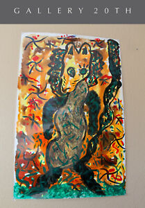 WOW! FANTASTIC ORIGINAL ABSTRACT ART PAINTING! AFTER PICASSO MATISSE VTG LARGE