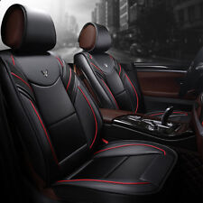 Car Seat Covers Deluxe PU Leather 5 Seats Universal Front&Rear Seat Cushion Mat