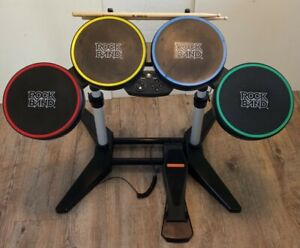 Rock Band PS2 PS3 PC Drums wired With Sticks And Pedal Preowned tested working