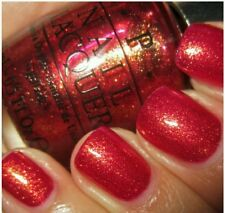 OPI nail polish DS INDULGENCE DESIGNER SERIES rich red gold shimmer nail lacquer