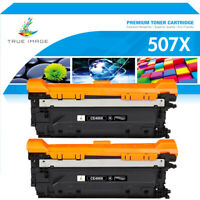 2 Pack CE400X Black Toner for HP 507X LaserJet M551dn MFP M570dn M575dn Printer