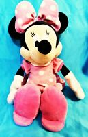 """Minnie Mouse in Pink Dress Stuffed Plush 20"""" Mouse Animal Disney"""