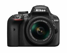NIKON D3400 DSLR CAMERA WITH AF-P 18-55 F/3.5-5.6 VR LENS 16-GB CARD, CARRY BAG