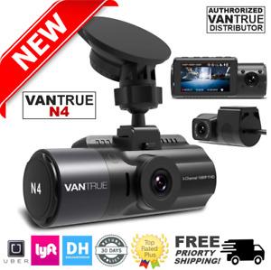 Vantrue N4 Dash Cam 3 Channel 1440P Front, 1080P Inside & Rear Dash Cam