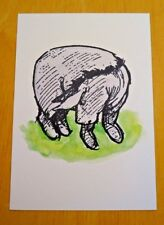 WINNIE-THE-POOH POSTCARD ~ EEYORE LOOKING FOR HIS TGAIL IN 100 ACRE WOOD ~ NEW