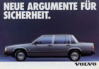 Volvo 740 Prospekt 3/85 Autoprospekt 1985 Broschüre Auto PKW broschyr brosjyre