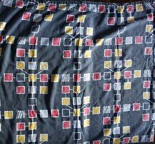 More details for 1950s/1960s vintage cotton barkcloth fabric david whitehead atomic cubes mcm