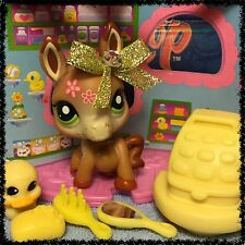 Littlest Pet Shop Lot #1944 Rare Special Edition Brown Donkey Mule Horse VHTF 2
