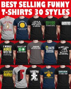 Mens Funny Slogan ORGANIC T-Shirts Novelty Sarcastic Rude Joke Birthday Gift