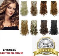 Extension A Clips Cheveux Mixtes Remy Ondules Bresilien Naturel 51cm
