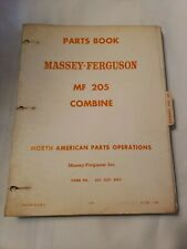 Massey Ferguson Mf 205 Combine Parts Manual Catalog
