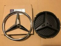 MERCEDES A,C,GLA,GLK,CLA,CLS,E,SLK Class FRONT GRILL STAR BADGE Chrome with Base