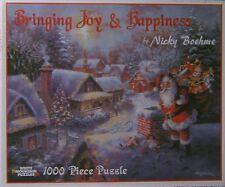 White Mountain Puzzle Christmas Bringing Joy & Happiness Nicky Boehme 1000 #3375