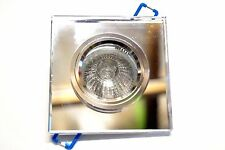 CROMPTON K9 Crystal Glass Mirror Downlight 12V 37W - Square Clear