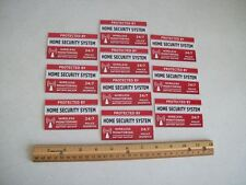 10 Home Security System Window Decals Stickers - Stock # 703
