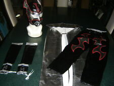 ADULT SIZE SUIT 16 + YEARS LYCRA SIN CARA BLACK WWE FANCY DRESS COSTUME OUTFIT