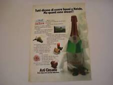advertising Pubblicità 1973 SPUMANTE ASTI CINZANO