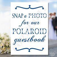 Snap Photo Polaroid Guestbook Prop Selfie Vintage Strike Pose Sign Wedding Card