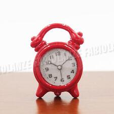 1:12 Miniatur Doppelglockenwecker Rot Für Puppenhaus