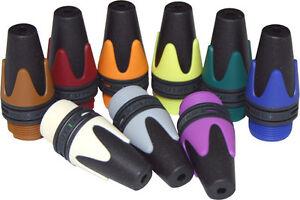 2 (TWO) Neutrik BXX Coloured XLR Boots. Bushing XX Series. Cable Marking Ident