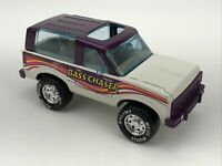 """Vintage NYLINT Ford Bronco """"Bass Chaser"""" Metallic Purple/White Toy Metal Truck"""