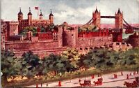 Vintage 1910's The Tower of London, London, England Postcard