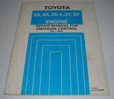 Repair Manual Emission Control Toyota Engine 2A 4A 2S-E 2Y 3Y Corolla Carina II!