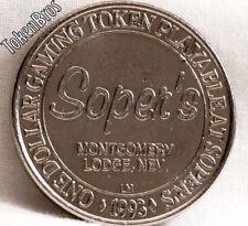 $1 SLOT TOKEN COIN SOPER'S MONTGOMERY PASS LODGE CASINO 1993 LM MINT NEVADA RARE