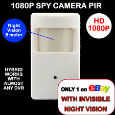 1080P HD SPY Hidden PIR CCTV Camera 2.0MP Invisible Night Vision UK spec Hybrid