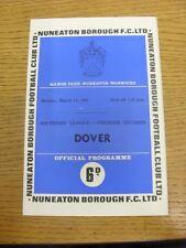 11/03/1968 nuneaton Borough V dover (piega, piega, matita Team modifiche). TRUSTe