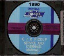 CHEVROLET 1990 Pick Up Truck, Blazer & Suburban Shop & Overhaul Manuals CD