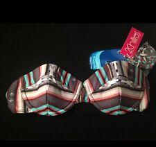 2 Chillies Ladies A/B Underwire Balconette Bikini Top Size 14 RRP $64.95