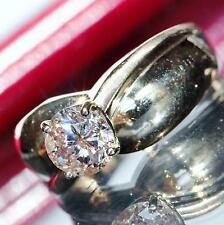 solitaire engagement ring 1.25ct natural diamond 14k yellow gold 5.4gr