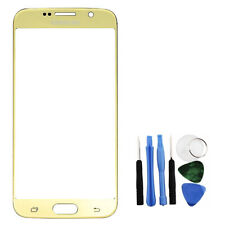 Gold Front Glass Lens LCD Repair + Tools Part for Samsung Galaxy S6 SM-G920F