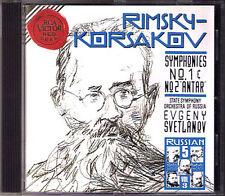 Evgeny SVETLANOV: RIMSKY-KORSAKOV Symphony No.1 & 2 Antar RCA CD Sinfonien
