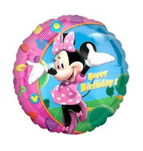 """5 X 18"""" -Minnie Mouse- Foil Balloons Kids Boys/ Girls Birthday Party Decoration"""