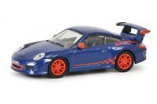 Schuco 26316 - 1/87 Porsche 911 (997) Gt3 Rs - Blau Metallic / Orange - Neu