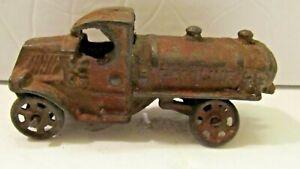 Antique Hubley Arcade Cast Iron Gasoline Toy Truck Gas Tanker