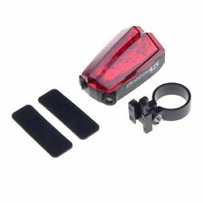 Waterproof Bicycle Laser Tail Light Emit Two Parallel Lines Battery Operated New