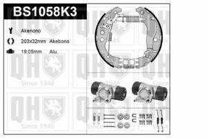 QH Akebono Brake Shoe Kit w/ Auto Adjust /Wheel Brake Cylinder - BS1058K3