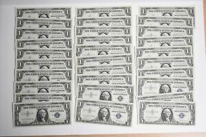 1957 $1 Silver Certificates 30 Piece Lot Consecutive Serial Numbers CU++(otx384)