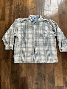 STRUCTURE Shirt Mens Size XL Vintage 90s Retro Flannel Plaid Heavy Cotton