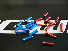 JAGWIRE - 10 X RED and 10 x BLUE ALLOY END CRIMPS FOR cycle BRAKE/GEAR CABLE