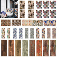 1Roll 3D Self-adhesive Tile Stickers Waterproof Wall Decals for Kitchen Bathroom