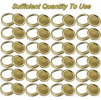 24 Set Canning Jar Lids and Bands for Regular / Wide Mouth Mason Jars Split-Type