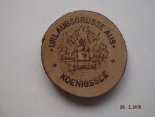 1 Untersetzer aus Holz, Urlaubssouvenir. Königssee